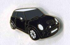 black mini motor car lapel badge new shape  (191) BRITSH MOTOR The Italian Job