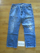 destroyed levi feather 501 jean tag 36x29 meas 34x29 14247F