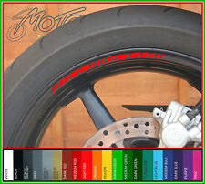 8 x DUCATI Wheel Rim Stickers Decals - Many Colours - monster 848 1198 1098 evo