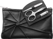 Zwilling Twinox Kosmetiktasche+3 tlg.Manicure Set Maniküre-Etui Beauty echtLeder