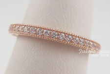 HEARTS OF PANDORA Band AUTHENTIC Silver ROSE GOLD Plated RING/Clear CZ 7/54 NEW