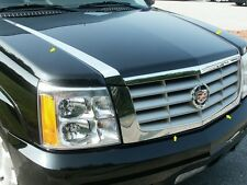 FITS CADILLAC ESCALADE 2002-2006 POLISHED STAINLESS CHROME HOOD ACCENT TRIM 4PCS