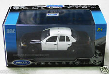 Welly 1/43 Ford Crown Victoria Police Car Black & White LAPD Style Blank