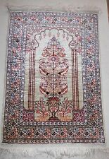 Turkish Silk Rug, enitirely pure silk, handmade, double knotted, Tree of Life