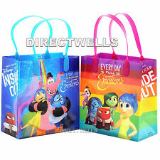 6 Pcs Disney Inside Out Authentic Licensed Small Party Favor Goodie Gift Bags