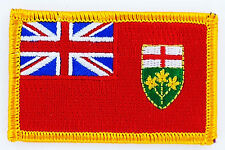 Ecusson Brodé PATCH drapeau ONTARIO  CANADA FLAG PATCH EMBROIDERED