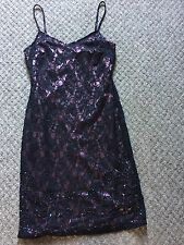 Womens Tiara Purple Sequinned Strappy Dress Christmas Party Occasion Size 10