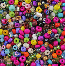 1KG MIXED OPAQUE & 2 CUT Glass SEED BEADS Size 11/0 2mm