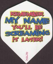 """""""Remember My Name...."""" Dart Flights: 3 per set"""