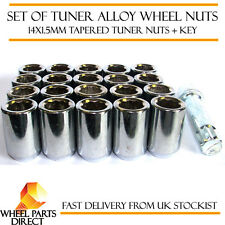 Set of 20 14x1.5mm 14x1.5 Tuner Drive Sparco SD Alloy Wheel Nuts Bolts + Key
