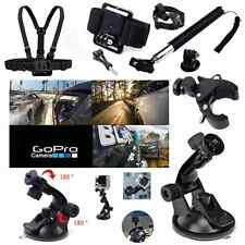 Pole Head Chest Mount Strap GoPro Hero 2 3 4 5 Action Camera Accessories Set Kit