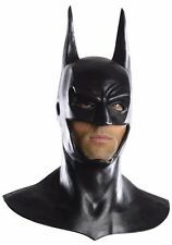 Deluxe Batman Costume Mask & Cowl Arkham Latex Adult Bat Man - Fast -