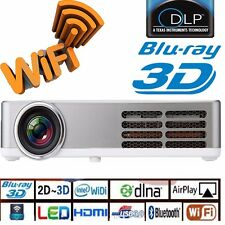 2016 DLP WiFi 6000 lumens Lan 1080P 3D Home Theater LED Touch Screen Projector