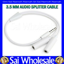 for iPhone iPod iPad SamSung htc 1Male to 2 Dual Female 3.5mm Audio Splitter