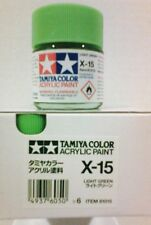 Tàmiya acrylic paint. X-15 Light green, 23ml.