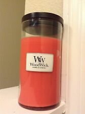 WoodWick Candle Pink Raspberry Lemonade Scented Tall Glass Pillar Candle PINK!!!
