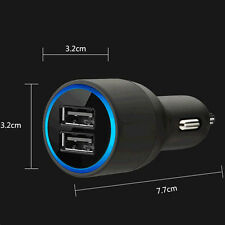 New 2-port USB Car Auto Charger With Lightning Cable For Samsung IPhone5