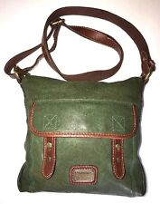 Fossil Long Live Vintage 1954 Green Flap Crossbody Shoulder Bag