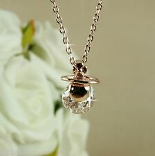 N5 Designer Inspired 18K Rose Gold Plated Pendant Necklace with Zirconia Crystal
