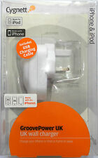 GROOVE POWER UK CYGNETT IPHONE IPOD MAINS WALL CHARGER