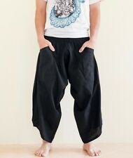 Hippie Japanese Style Yogi Harem Pants Yoga Trousers Casual Summer Solid Black