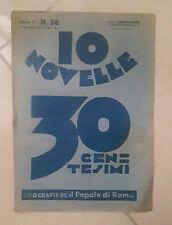 10 NOVELLE 30 CENTESIMI NUMERO 58 1933