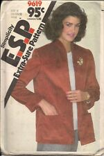Ladies Jackets Sewing Patterns S9619 Size 8-12