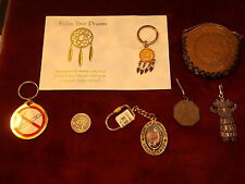 #1, MIXED LOT OF KEY CHAINS/FOBS, DREAM CATCHER, SAN FRAN, AZTEC, COIN PURSE++++