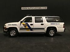 New Jersey State Police 1:24 Scale Chevrolet Suburban In Display Case