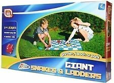 GIANT SNAKES & LADDERS PLAY MAT KIDS GARDEN OUTDOOR BOARD GAME 2-4 PLAYERS