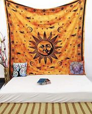 Sun Indian Hanging Cotton Wall Tapestry Full Size Orange Decor Throw TPL22B