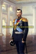mm496 - Russia - Czar Nicholas II Romanov in uniform art - photo 6x4""