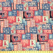 """Quilt Pink Print Fabric Cotton Polyester Broadcloth By The Yard 60"""""""