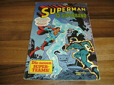 SUPERMAN  Superband  # 15  // Ehapa 1980 mit SAMMELECKE // neue SUPER-TEAMs