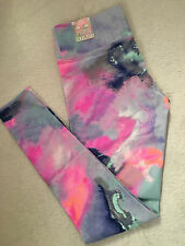 VICTORIA'S SECRET PINK ULTIMATE LEGGINGS PASTEL / YOGA GYM JOGGER PANTS LG