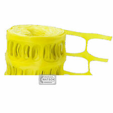 50M YELLOW Barrier Fencing Plastic Fence Mesh Netting Roll Building Site Safety