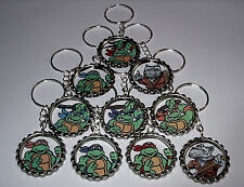 20 TEENAGE MUTANT NINJA TURTLE BACKPACK CHARM KEYRING KEYCHAIN PARTY  FAVORS