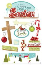 PAPER HOUSE REASON FOR THE SEASON CHRISTMAS DIMENSIONAL 3D SCRAPBOOK STICKERS