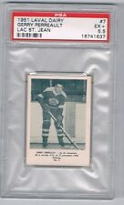 1951 Laval Dairy Lac St. Jean Hockey Card #7 G. Perreault Graded PSA 5.5