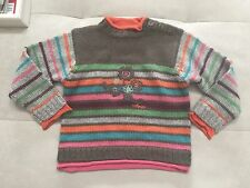$100 Catimini France Sweater 4T Orange Multy-Color Excellent Condition