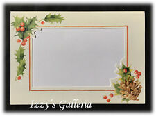 Vintage Hallmark Marjolein Bastin Holly Berry Christmas Photo Warm Thoughts Card