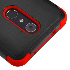For ZTE Grand X Max 2 - Hybrid HARD&SOFT High Impact Case Cover Red Armor Skin