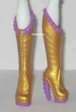 Monster High Power Ghouls Wonder Wolf Clawdeen Doll Outfit Gold Shoes/Boots NEW