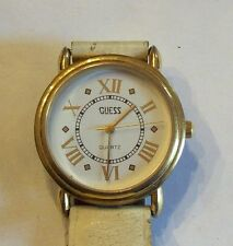 Nice White & Gold Tone Guess Watch - TLC