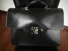 Authentic Louis Vuitton Black Epi Robusto 2 compartments Briefcase. Pre-Owned!