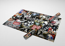"Banksy - Collage Archival Canvas Print 30""x20"""