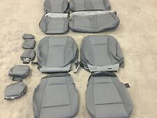 FACTORY OEM CLOTH SEAT COVERS MEDIUM GREY 2015 2016 2017 FORD F150 SUPER CREW