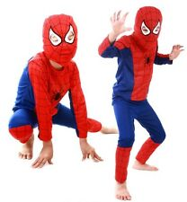 Kid Spiderman Long Sleeve Top+ Pants+Mask Outfit Costume Clothing Sz:S/M/L