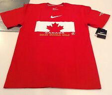 Team Canada 2014 Sochi Winter Olympics Double Gold Medalist Hockey XXL T Shirt