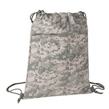Drawstring Cinch Sack Backpack School Tote Gym Beach Travel Bag ACU DIGITAL CAMO